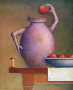 Still Life-Vase & Apples
